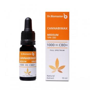 Масло от коноп CANNABIMAX MEDIUM, 10% CBD, 10 ml